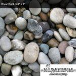 "River Rock 3/4"" x 1"" - Maranatha Landscape Bakersfield"