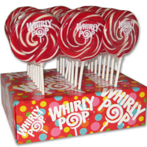 A&B 70222 WHIRLY POPS COLOR RED 1-24-1.5OZ