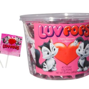 A&B 77390 A&B PEPE & PENELOPE LUV POPS 6_40CT TUB
