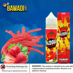 BAZOOKA STRAWBERRY SOUR STRAWS