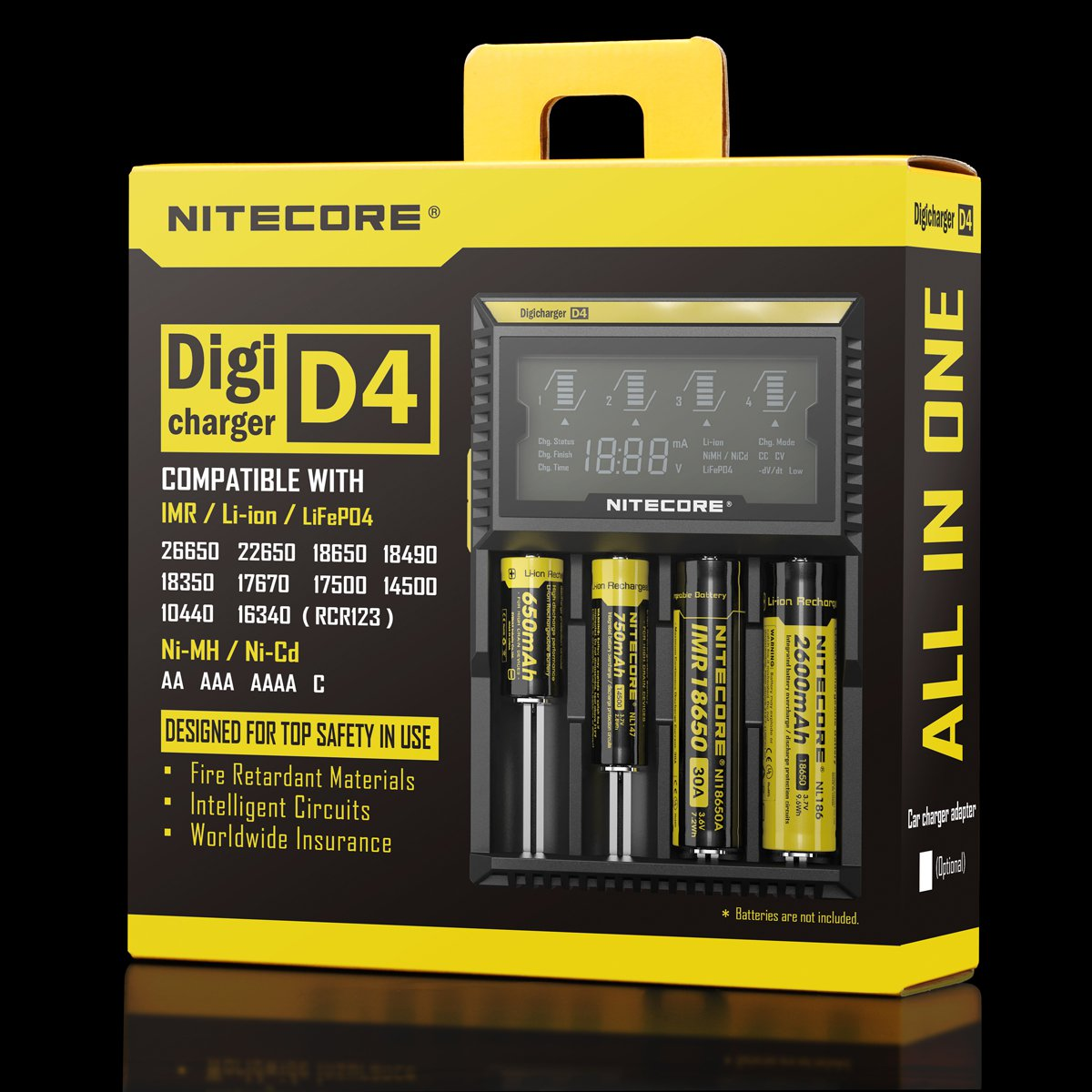 NITCORE_D4_box battery recharge uae