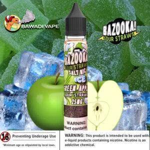bazooka_Green Apple ICE saltnic uae eliquid vape dubai