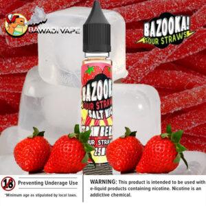 bazooka_Strawberry ICE saltnic uae eliquid vape dubai