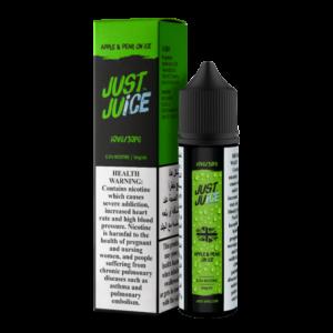 JUST JUICE - APPLE & PEAR ICE FREEBASE E-LIQUID