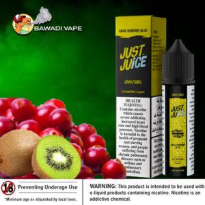 JUST JUICE – KIWI & CRANBERRY ON ICE FREEBASE E-LIQUID