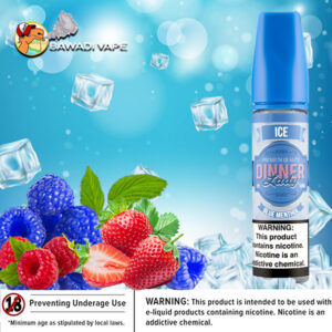 DINNER LADY PREMIUM E-LIQUIDS ICED – BLUE MENTHOL – 60ML
