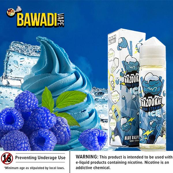 BAZOOKA BLUE RASPBERRY SOUR STRAWS ICE Dubai