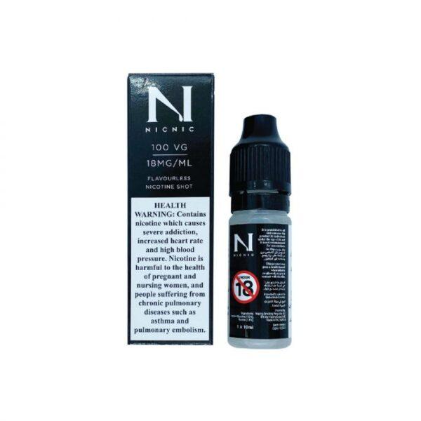 NIC NIC NICOTINE SHOT 100VG-18MG/ML