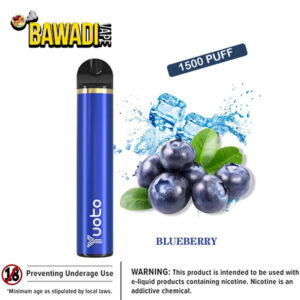 BLUEBERRY BY Yuoto Disposable Vape Device 1500 Puffs