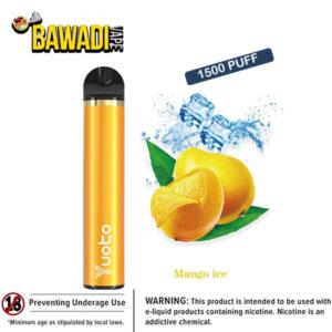 MANGO ICE BY Yuoto Disposable Vape Device 1500 Puffs