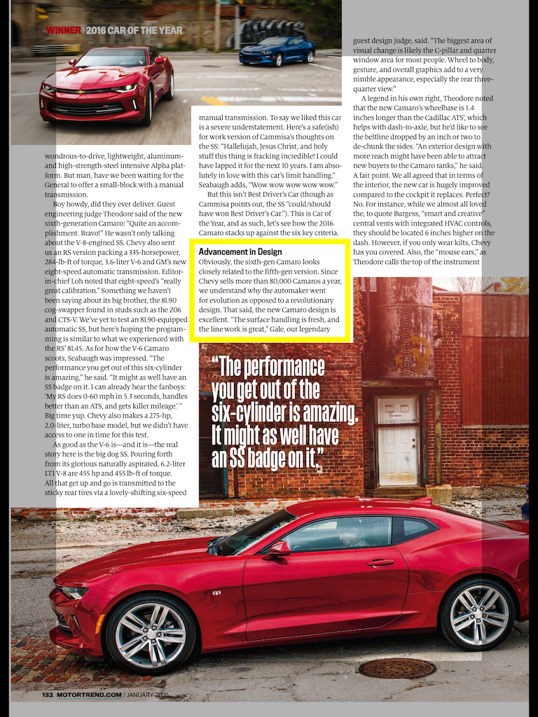 From January issue of MotorTrend magazine.