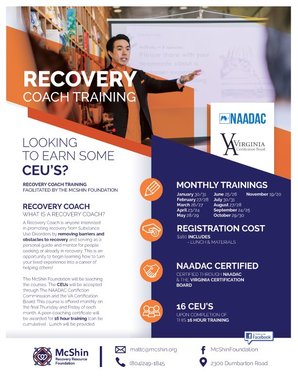 McShin Recovery Coach Training
