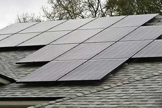 Solar panels on roof of house in Adelaide