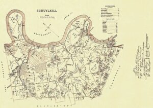 Historic map of Schuylkill Township