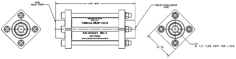 Diagram of JASC's Thermal Relief Valve