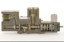 Three-way purge valve cutaway