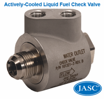 actively cooled liquid fuel check valve