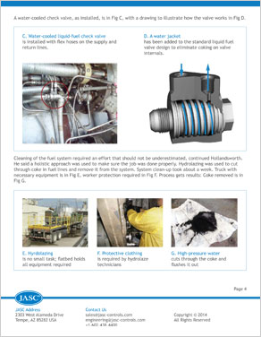 7EA Experience with Water Cooled Liquid Fuel Check Valves Installed in Dual Fuel Engines