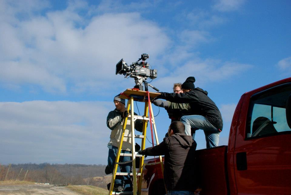 camera on ladder