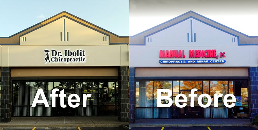 Before and After image of the Dr Ibolit Chiropractic clinic in Vancouver WA