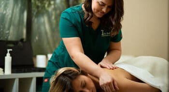 Massage therapist performing a massage in Vancouver WA