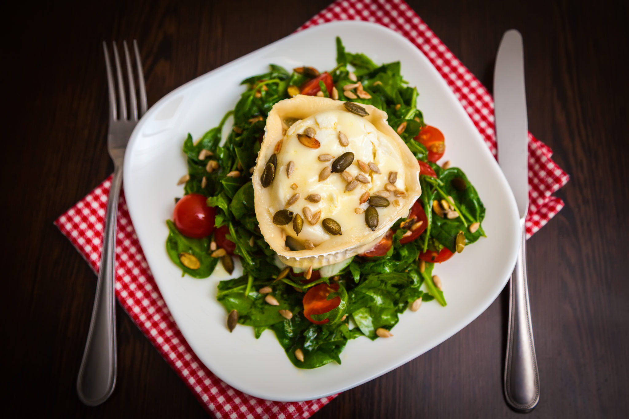 Crottin Salad with Grilled Paglierino Recipe