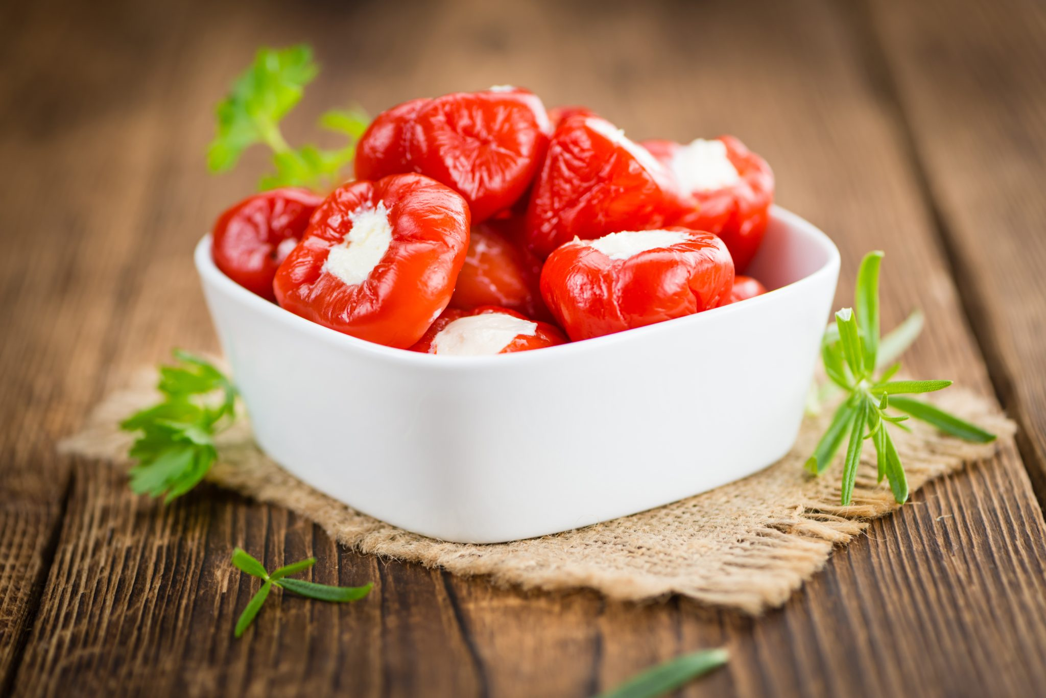 Vegetarian Roasted Ricotta Stuffed Peppers Recipe