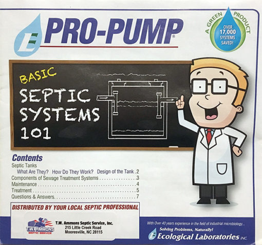 Pro Pump Septic Saver Booklet - TW Ammons Septic Service Inc