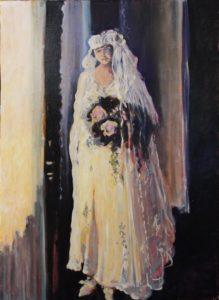 Atlanta Bride 1909, oil by Marcia Chaves, 24in x 17.5in (September 2016)