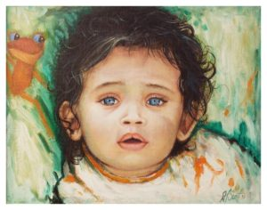 Baby Blues, Oil by Darrell F. Scott (November 2016)