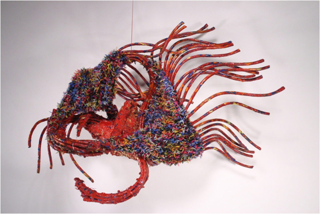 HONORABLE MENTION: Birthing, Fiber by Passle Helminski - Size 18in x 25in x 14in (March 2017)
