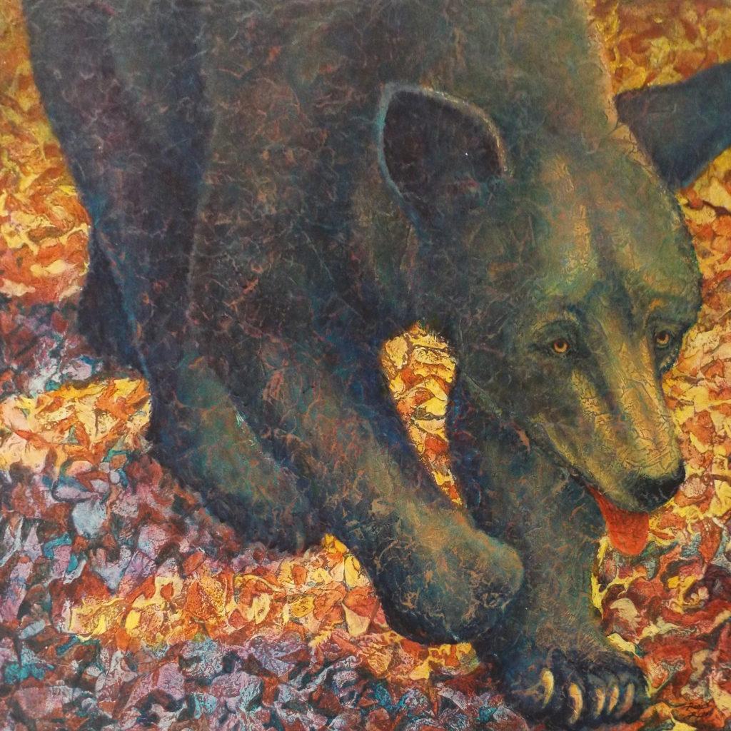Black Bear II, Acrylic by Robyn Ryan - Size 24in x 24in (October 2016)