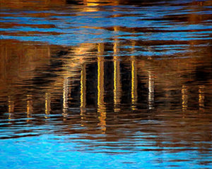 Bridge Reflection, Photography by David Kennedy - Size 16in x 20in (April 2017)