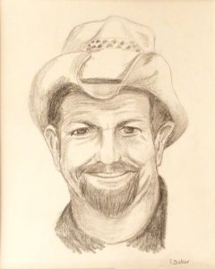 Country Gentleman, graphite by Carol Baker, 10in x 8in (September 2016)