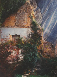 HONORABLE MENTION: Fallen Cliff, Broken Wall, Metallic Photograph by Deborah Herndon - Size 14in x 10.5in (April 2017)