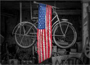 Flagcycle, Photography by David Kennedy - Size 13in x 18in (February 2017)