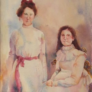 Goodwin's Girls (Nell and Luddy), Watercolor by Amanda Lee - Size 11in x 11in (March 2017)