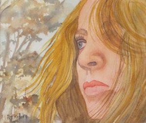 Helene, Watercolor by Pat Knock - Size 8in x 9.5 (March 2017)