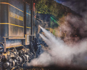 Letting off Steam, Canvas Photo by Mark Monteiro - Size 16in x 20in (February 2017)