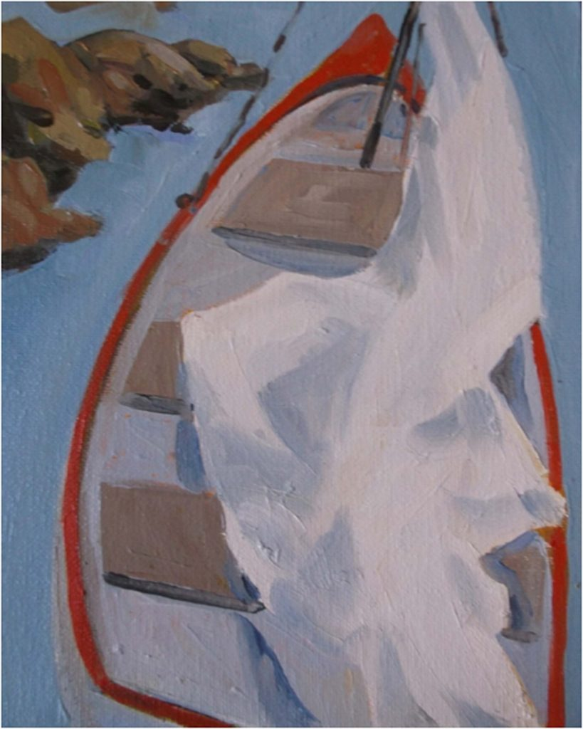 HONORABLE MENTION: Sail No.1, Oil by Marcia Chaves - Size 10in x 8in (Dec.2016-Jan.2017)
