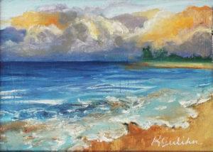 Seaside Postcard, Oil by Karen Julihin - Size 5in x 7in (Dec.2016-Jan.2017)