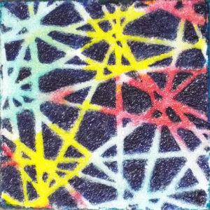 Shattered, Acrylic by Darlene Wilkinson - Size 4in x 4in (Dec.2016-Jan.2017)