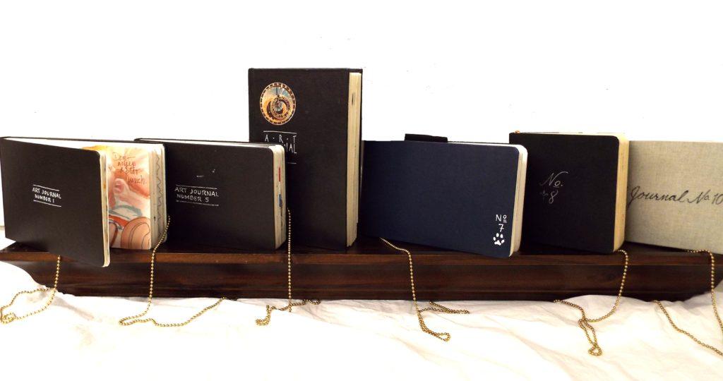 Six Sketch Books, Assemblage, Books by Paula Raudenbush (October 2016)