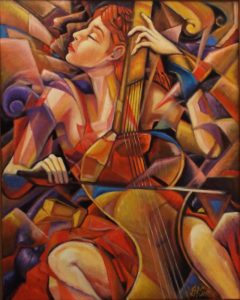 The Beauty of Music, Oil by Darrell F. Scott - Size 30in x 20in (March 2017)