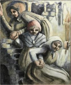 Three Women, Oil by Sally Rhone-Kubarek - Size 24in x 20in (March 2017)