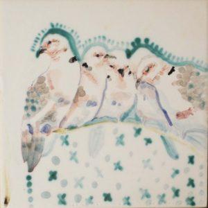 A Pitying, Ceramic by Rachel Van Dyke- Size 6in x 6in (August 2016)