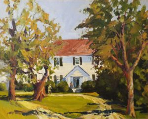 Carlton, Falmouth VA, Oil by Marcia Chaves- Size 8in x 10in (August 2016)
