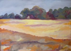 Summer Wheat Fields, Oil on Canvas by Christina W Smith (February 2012)