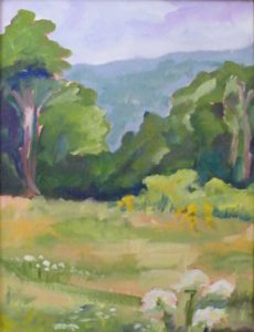 Vermont Meadow, Oil on Board by Christina W Smith (February 2012)