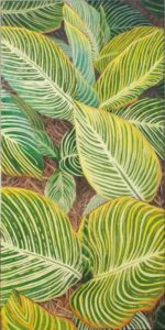Greatness of Greens, Acrylic by Charlotte Burrill- Size 20in x 10in (August 2016)